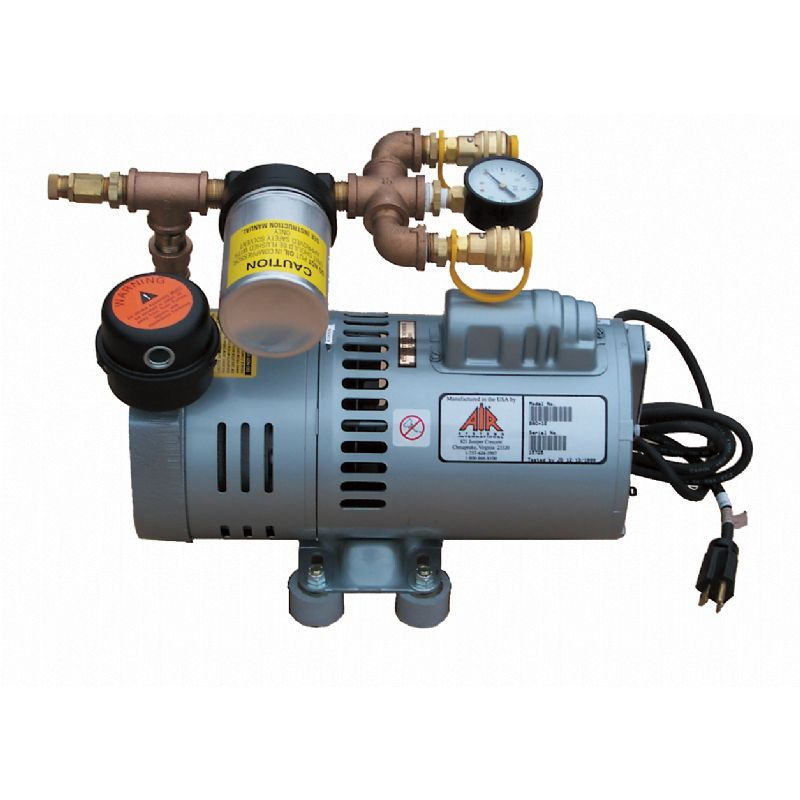 Air Systems 2 Outlet Breathing Air Compressor 9 CFM 115 230 Volt AC  Electric Specify Fittings BAC-10